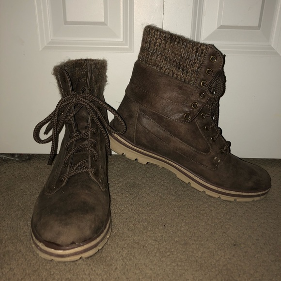 088ca3ce9ab3 Bamboo Surprise 01N Brown Lace-Up Convertible Combat Boots